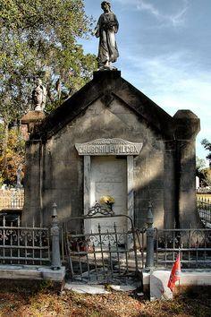 St Andrews Cemetery Darien GA McIntosh County Historic Churchill Wilcox Mausoleum Figural Monumental Funerary Architecture