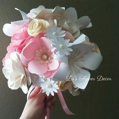 Paper Flowers Wedding, Flower Bouquet Wedding, Different Tones, Flower Decorations, Bride, Pink, Beautiful, Instagram, Wedding Bride