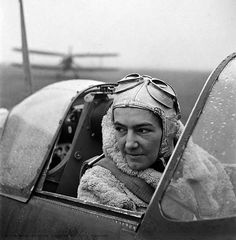 Lee Miller's stunning images of women in wartime: Anna Leska, White Waltham air field, England, 1942. A serving officer in the Polish air force, Anna Leska was one of three Polish women who served in the Air Transport Auxiliary. In this picture, she had only recently been cleared to do so. The women who flew in the ATA were extremely skilful, required as they were to fly a variety of different planes from the maintenance sheds to the airfields (in this image, Leska is in a Spitfire).