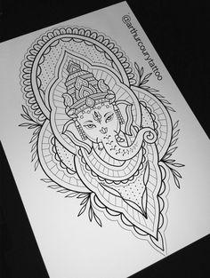 Ganesha, Ornamental www.instagram.com/arthurcourytattoo