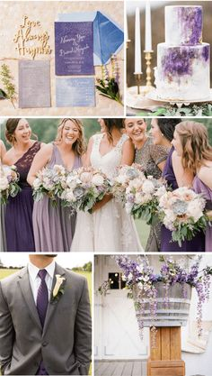 Top 8 November Wedding Color Ideas for 2019 - Mix-match Purple. Top 8 November Wedding Color Ideas for 2019 - Mix-match Purple. Sage Green Wedding, Purple Wedding, Fall Wedding, Wedding Blog, November Wedding Colors, Grey Wedding Invitations, Wedding Themes, Wedding Decorations, Navy Blue Bridesmaid Dresses