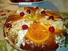 Roscon de Reyes hecho con masa madre y otro relleno de crema dealmendras.    Hola este año me dije que el roscón seria lo mas natural p...