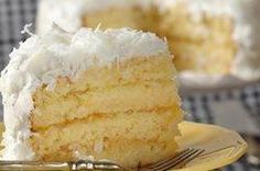 A Coconut Cake has two layers of moist coconut-flavored butter cake that are filled with a tangy lemon curd and frosted with a smooth and shiny 7-Minute Frosting and sweetened coconut. From Joyofbaking.com With Demo Video