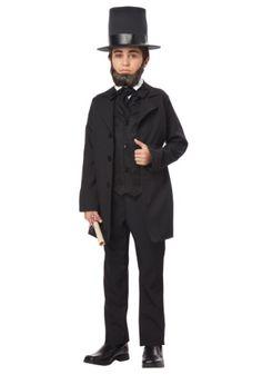 California Costumes Abraham Lincoln/Andrew Jackson Child Costume, X-Large