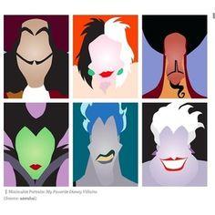 Villans Disney minimalist - New Ideas Villains Party, Disney Villains Art, Disney Princesses, Disney Characters, Arte Disney, Disney Love, Evil Disney, Disney Disney, Disney Minimalist
