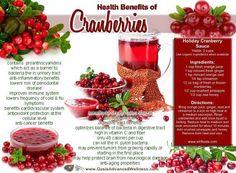 Health benefits of cranberries.
