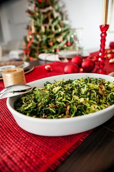 Brussels Sprout and Kale Salad.