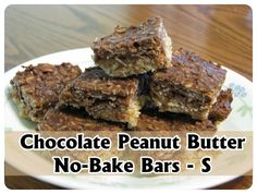 Trim Healthy Mama {Chocolate Peanut Butter No-Bake Bars – S}