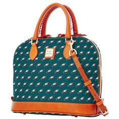 Women's Philadelphia Eagles Dooney & Bourke Midnight Green Zip Zip Satchel