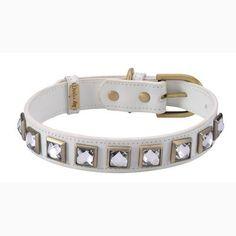 Monte Carlo White Dog Collar – Bark Label