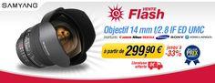 Vente flash Miss Numérique jusqu'à -33% sur l'objectif Samyang 14mm f/2.8
