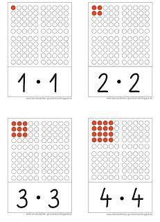 Lernstübchen: hier die Quadratzahlen als Aufgabenkarten