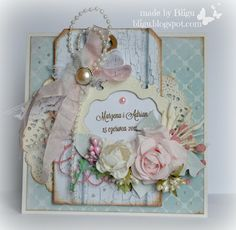 Bligu The June weddings Vol I Shabby Chic Cards, Vintage Shabby Chic, Engagement Cards, Engagement Ideas, Birthday Cards For Women, Beautiful Handmade Cards, Card Making Inspiration, Creative Cards, Vintage Cards