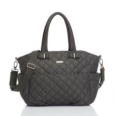 I love this chic diaper bag! Plus it's functional too.