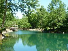 Blue Spring in Eureka Springs, Arkansas