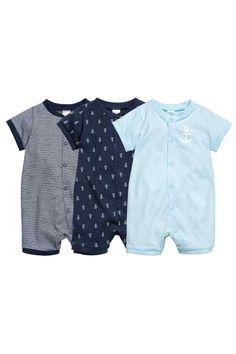 Set van 3 pyjamapakjes - Donkerblauw/anker - KINDEREN | H&M BE 1