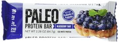 Paleo Snacks Book - Paleo Protein Bar (Blueberry Tart) 12 Bars (20g Egg White Protein 2 Net Carbs w/Probiotics) ** Continue to the product at the image link. (This is an affiliate link)
