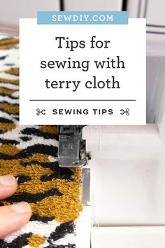 Terry cloth is one of those fabrics that's in every household but not in every fabric stash. It's not very hard to work with but there are a few things to be aware of before you jump in. Click over  for more information. Handmade Home, Sewing Hacks, Sewing Tutorials, Sewing Tips, Sewing Clothes, Diy Clothes, Handwashing Clothes, Ticking Stripe, Tips & Tricks