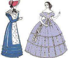 Женские русские костюмы 19 века