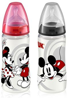 NUK Mickey Mouse First Choice PP-Babyflasche mit Silikon-Sauger