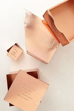 copper desk accessories / anthropologie