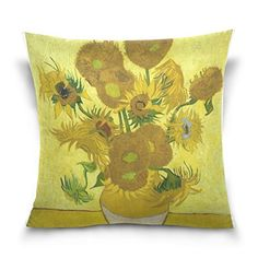 20X 20 Van Gogh Sunflowers Cotton Velveteen Decorative Throw Pillow Cover Cushion Case -- This is an Amazon Affiliate link. Details can be found by clicking on the image.