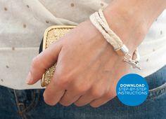 Nautical Rope Bracelet Tutorial // by @Julia Gunko for www.machemag.com