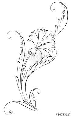 Vector: Karanfil Çiçeği Çini Deseni