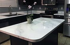Supreme Kitchen Remodeling Choosing Your New Kitchen Countertops Ideas. Mind Blowing Kitchen Remodeling Choosing Your New Kitchen Countertops Ideas. Refinish Countertops, Kitchen Countertop Materials, Laminate Countertops, Concrete Countertops, Kitchen Countertops, Soapstone Kitchen, Quartzite Countertops, Home Design, Kitchen Decor
