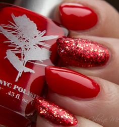 """Priti NYC  American Beauty with Orly """"Devil May Care"""" Glitter Polish"""