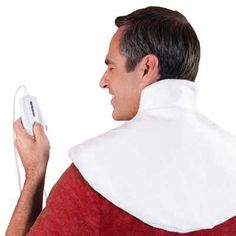 Bob's - Neck Wrap Heating Pad - Doctor Designed for Therapeutic Heat Relief and Arthritis. Shoulder Pain Relief, Neck And Shoulder Pain, Neck Pain, Best Heating Pad, Heating Pads, Shoulder Heating Pad, Heath Care, Moist Heat, Upper Back Pain