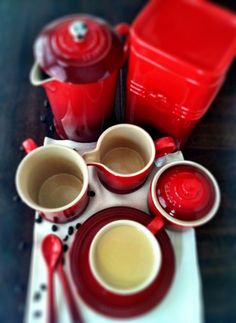 Cappuccino Panna Cotta + Le Creuset Cafe Collection {GIVEAWAY}