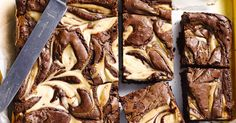 Rich and creamy cheesecake slice with chocolatey swirls makes an indulgent mid-afternoon treat. Chocolate Cheesecake Brownies, Pork Fillet, Gluten Free Brownies, Chocolate Cream Cheese, Square Cakes, Raspberry Cheesecake, Orange Recipes, Gluten Free Chocolate, Gluten Free Baking