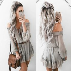 Ombre Hair Color Trends - Is The Silver Style Unique Hairstyles, Wig Hairstyles, Latest Hairstyles, Grey Wig, Gray Hair, Brown Blonde Hair, Grey Blonde, Pinterest Hair, Ombre Hair Color