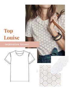 Coudre un haut Louise Sezane - Burn-out inspirations - Couture Shirt Dress Diy, Burn Out, Diy Tops, Couture Sewing, Couture Tops, Fashion Sewing, Dressmaking, Minimalist Fashion, Nike