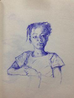 Burkinees meisje. November 2014