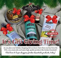 Give the gift of Healthy Skin Care this Holiday Season with Jordan Essentials Family Friendly Products today visit my website to place your order today your skin will thank you :) www.myjestore.com/lizzie