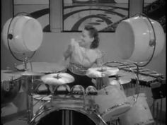 Veteran drummer Viola Smith and the Coquettes, all female jazz band, 1939