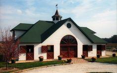 62'x36' 6 stall barn, solid mahogany entry doors