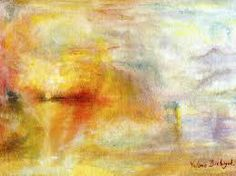 Turner. Sun Setting over a Lake