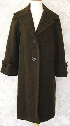 SUSANA MONACO Long Dark Brown Wool Blend Coat 8 NWT NEW Vtg Style Winter Jacket   $199.99