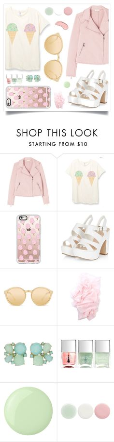 """No Sweets"" by racanoki ❤ liked on Polyvore featuring Rebecca Taylor, Casetify, Linda Farrow, Kate Spade, Nails Inc., NYX and RaCaNoKi"