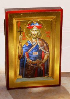 St. James the Persian, hand painted,miniature, orthodox icon, eastern orthodox, holy iconography, mini shrine icon by Georgi Chimev