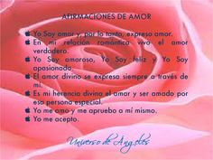Afirmaciones de amor.  #UniversoDeAngeles