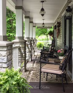 Far Above Rubies: Southern porch with vintage farmhouse style