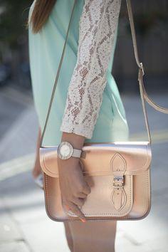 Metallic satchel by The Cambridge Satchel Company