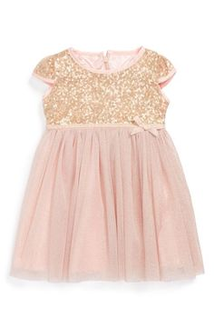 Dorissa Tulle Sequin Dress (Baby Girls) available at #Nordstrom kind of liking this for when we get married for V to wear.... wish it was long sleeved though
