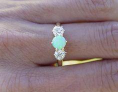 Vintage Opal diamond ring.