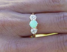 Vintage antique Opal european ring.
