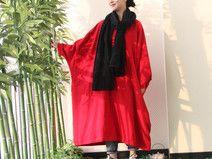 RED Batwing Oversize Plus Size Maxi Dress Kaftan